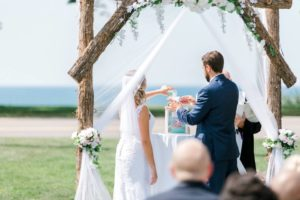 Lake Front Wedding Ceremony | LakeHouse, St Joe MI